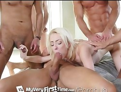 MyVeryFirstTime - New uncensored version - Maddy Rose first gang boink