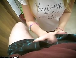 russian teen sucks immense dick pov