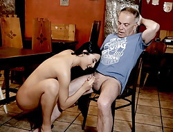 DADDY4K. Cheating on her bf with his nasty dad