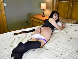 Exchange College girl Faces the Strap! - (Spanking)